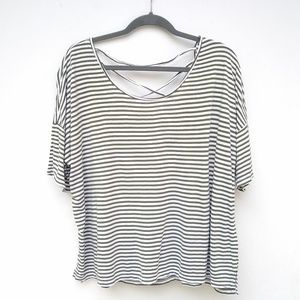Old Navy • scoop strappy back striped tee